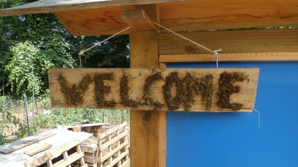 Affiche bienvenue réalisée par les enfants