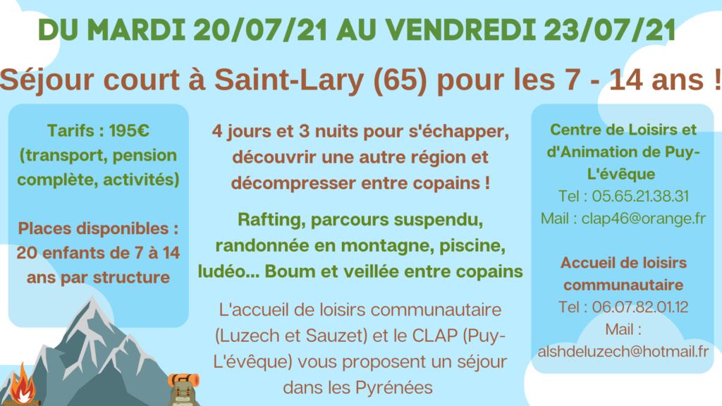 Camp à Saint-Lary 7-14 ans